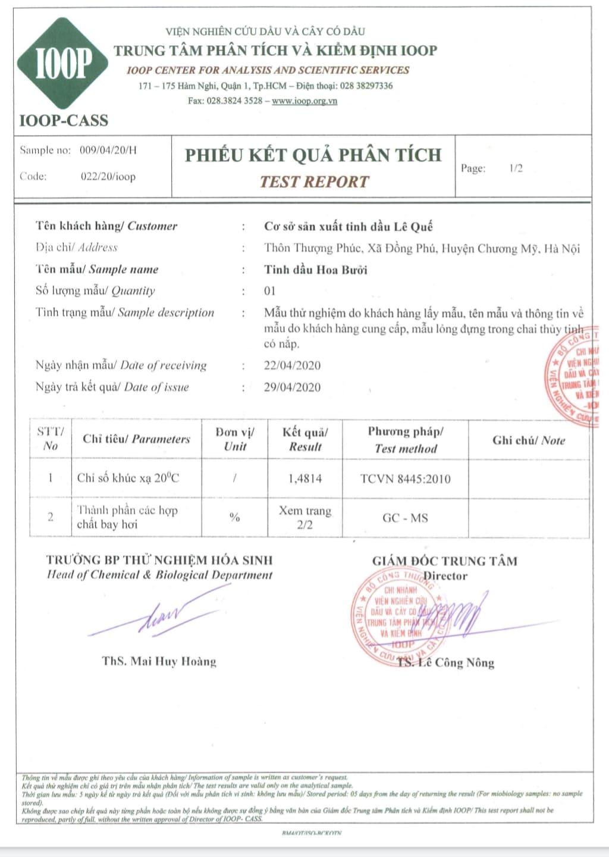BANG PHAN TICH TD HOA BUOI 01